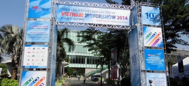 Went to Vietnam Motor Show 2014 which had been held in Ho Chi Minh City